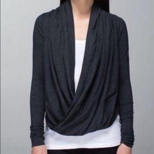 Lululemon iconic Wrap Sweater 8 Dark Gray